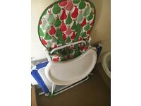 safety gate, high chair, bath , baths seat, door bouncer and changing mat all for 20£
