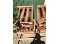 5 solid wood garden chairs