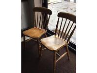 Original Antique Pine Chairs