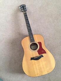 Taylor 110 Acoustic Guitar. Solid top Dreadnaught.