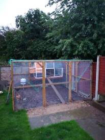 Coop, 3 x 3m run and accessories
