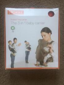 Stokke My Carrier 3 in 1 Baby Carrier in red (2 available)