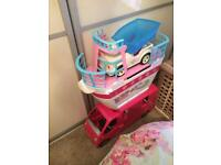 Barbie collection cruise ship campervan horses etc