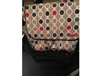 Baby changing bag with travel mat.