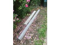 Wickes Slotted Concrete Fence Post - 8ft / 2.4m & a free cut smaller gravel board