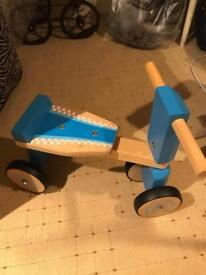 Wooden child's bike