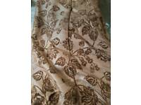 Pair of Heavy duty curtains 2m drop Brown