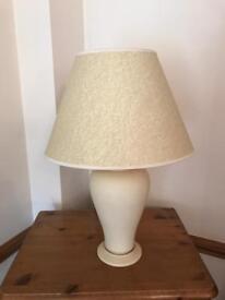 Large Cream Ceramic Lamp