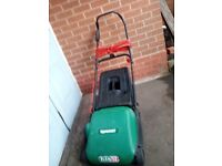 Qualcast Electric cylinder Lawnmower ELAN 32 with grass bag.