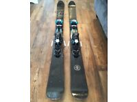 Powder skis with touring bindings