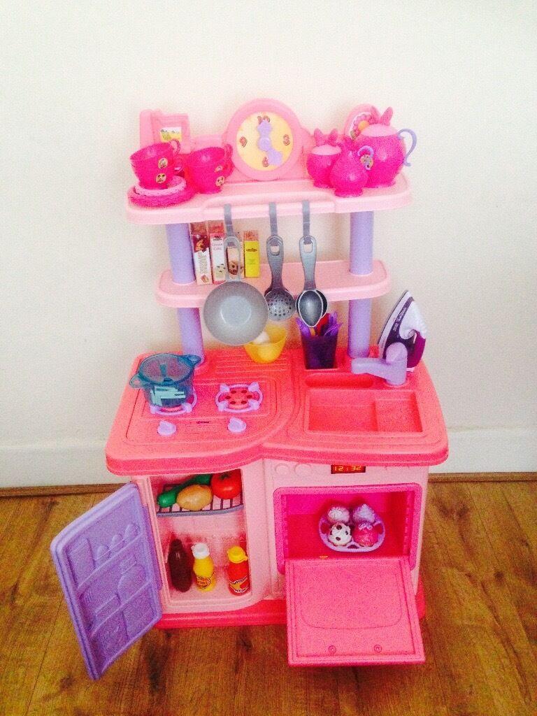 Smyths play/toy kitchen , disneys Minnie Mouse tea set & extras ...