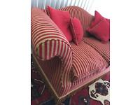 Brand New Beautiful Large Two Seater Striped Sofa | Delivery Avail