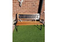 Vintage cast iron bench