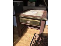 Decoupage Coffee table with drawer w61cm d71cm h59cm