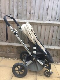 Bugaboo Cameleon, £40ono, used, includes carry cot, foot muff and fur insert
