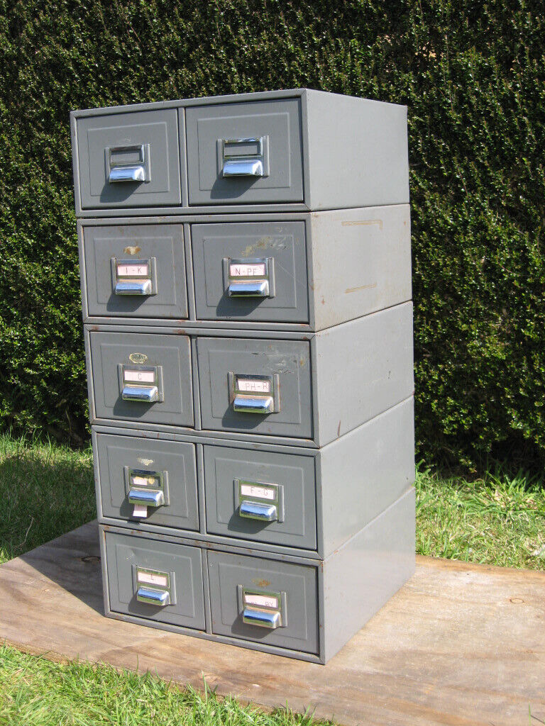 Picture of: Vintage Kingsbury Digby Metal Filing Cabinet Industrial Tools Office Storage 10 Drawers In Southampton Hampshire Gumtree