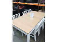 Mark Webster extending table with 6 x chairs. New