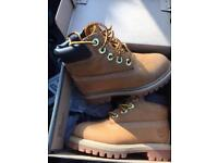 Kids size 6 timberland boots with box