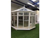 PILKINGTONS GLASS 'P' SHAPED CONSERVATORY