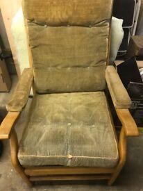 Mid century Cintique arm chair.