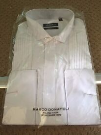 """MENS WHITE SHAPED FIT LONG SLEEVED SHIRT SIZE 16"""""""