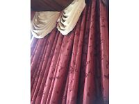 Beautiful Heavy Curtains with matching tie backs, Swags and tails and matching cushions