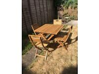 Wooden Table and chair garden set