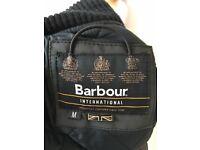 Men's Barbour International Wax Bomber Jacket in size Medium