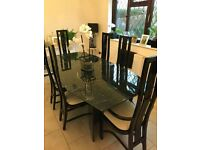 Six Seater Dining Room Table And Chairs