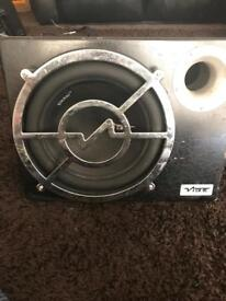 12 inch vibe cbr subwoofer with built in amp