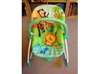 safari baby bouncer & rocker - excellent condition