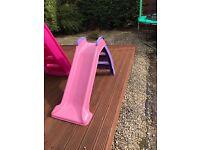 Pink little tikes slide