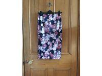 Miss Selfridge Floral Midi Skirt - Size 8