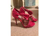 Dune Fuschia pink Heeled Sandels Size 5
