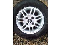 """Peugot alloy wheels 13"""""""