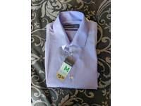 Mens long sleeved lilac shirt - medium
