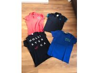 Hollister polo shirts and t-shirts.