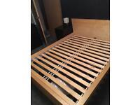 IKEA king size bed frame (malm)