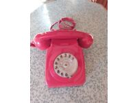 vintage red bt phone a classicrotary dial house phone