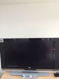 37 Inch LCD TV with Power Cable and Remote. HD Ready.
