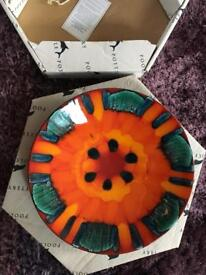 Poole pottery 25cm volcano dish