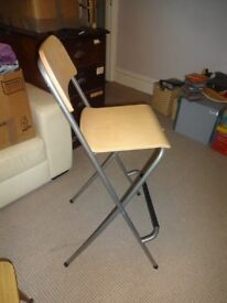 IKEA Folding Bar Stool Chair Breakfast Bar Franklin Birch