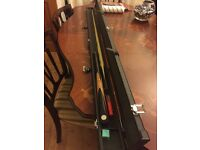 3/4 Craftsman Snooker/Pool Cue, with case