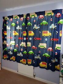 Vehicle Pattern Curtains & Light Shade