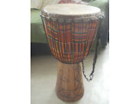 Djembe african drum (with travel bag)