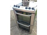 Electrolux Insight 55cm Stainless Steel Cooker with Glass splash-back lid.