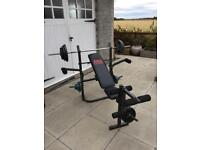 Compact multi-gym weight bench