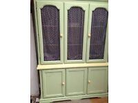 Country style dresser, glass door panels very attractive