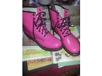 New pink Doc Martins size 8