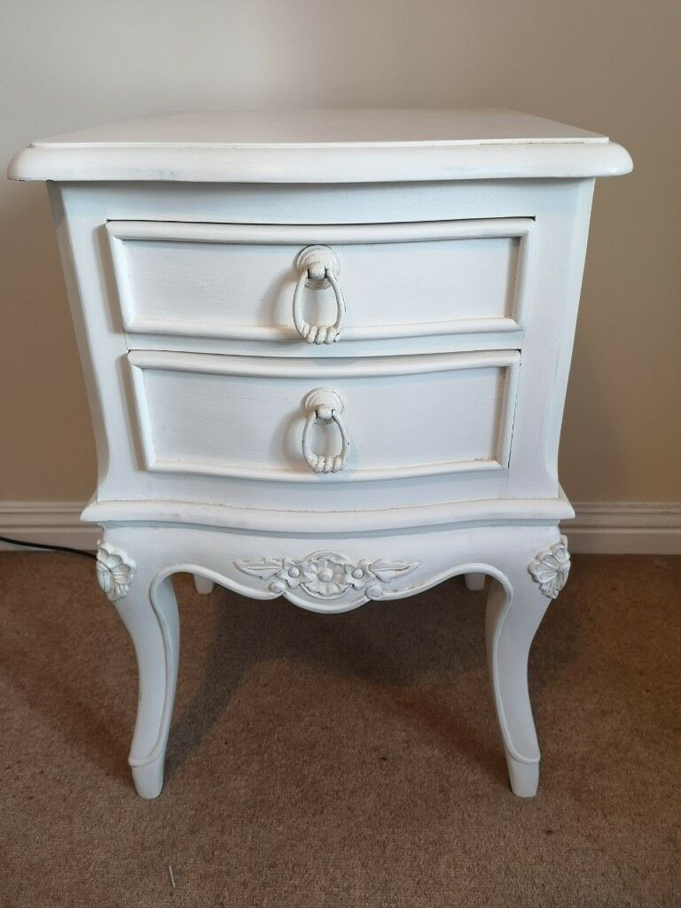 Cream Bedside Tables: Pair Cream Shabby Chic House Of Fraser Bedside Tables